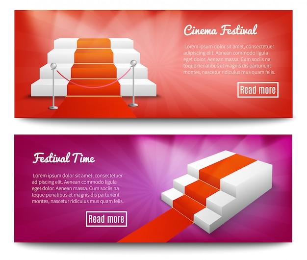 Bandeiras de escadas de tapete vermelho