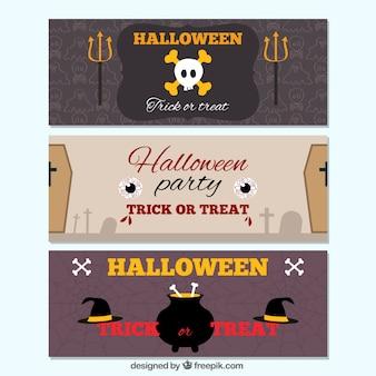 Bandeiras de halloween assustadores