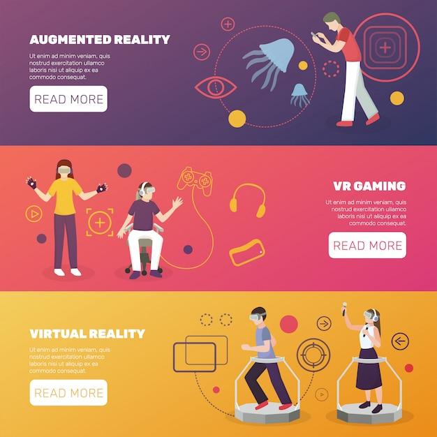 Bandeiras de jogos de realidade virtual