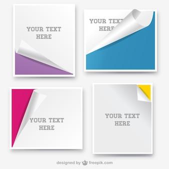 Bandeiras de papel enrolado design da página