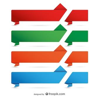Bandeiras de papel promocionais definir