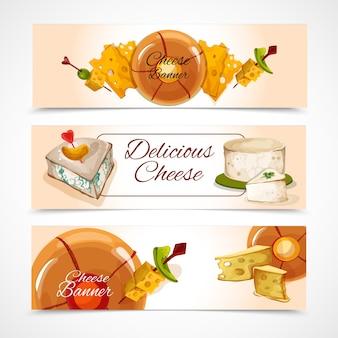Bandeiras de queijo horizontal