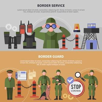 Bandeiras de serviço de guarda de fronteira
