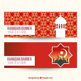 Bandeiras decorativas do ramadã