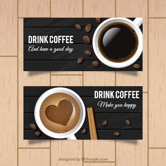 Bandeiras do café delicioso