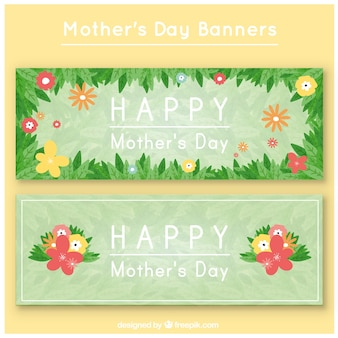 Bandeiras do dia das mães floral