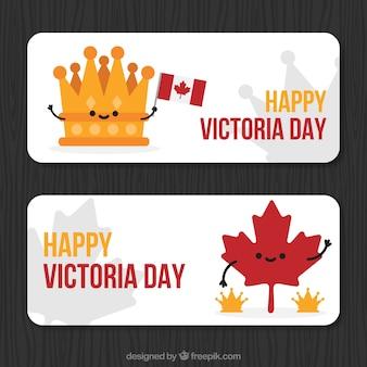 Bandeiras do dia de victoria agradável