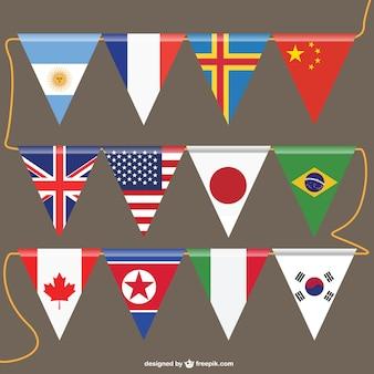 Bandeiras do vetor modelo livre