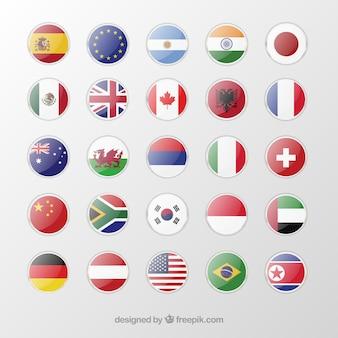 Bandeiras em botões