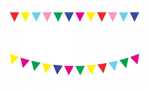 Bandeiras festivas de estamenha