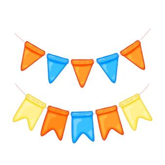 Bandeiras para o dia da erisipela. decorações do feriado.