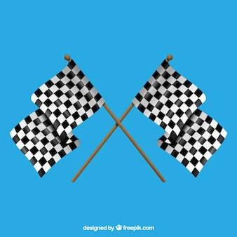 Bandeiras quadriculadas clássicas com design realista