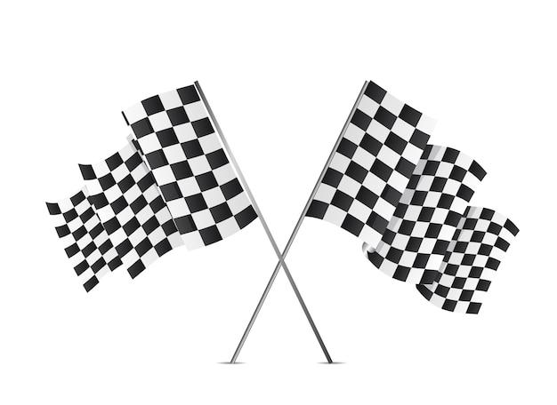 Bandeiras quadriculadas isoladas