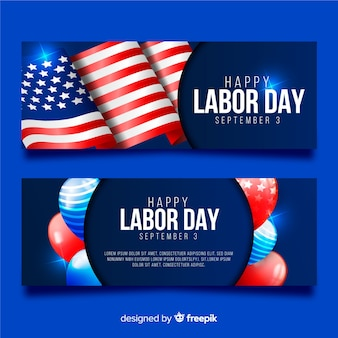 Bandeiras realistas do dia do trabalho dos eua