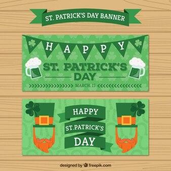 Bandeiras verdes de saint patrick