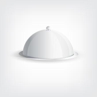 Bandeja cinza, conceito elegante de design gráfico