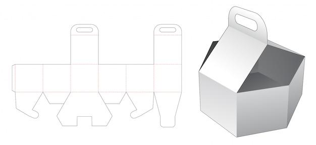 Bandeja hexagonal com suporte modelo cortado