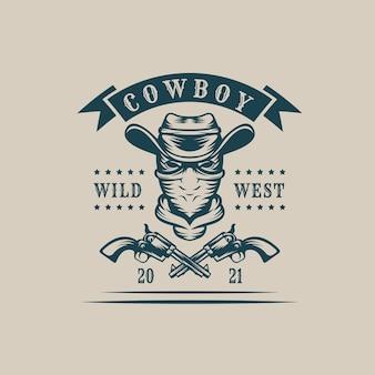 Bandidos de cowboy monocromáticos vintage