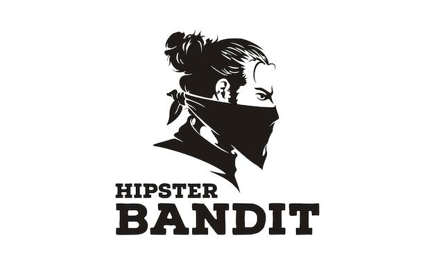 Bandit hipster logo / ilustração