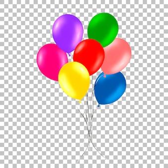 Bando de balões coloridos de hélio