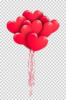 Bando de balões de ar vermelho