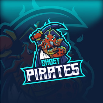 Banee ghost pirates logotipo da mascote de esport
