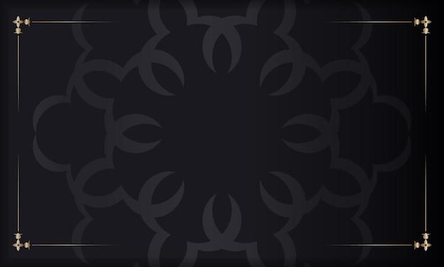 Baner em preto com enfeite de luxo