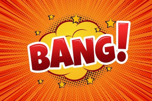 Bang! bolha cômica do discurso, desenhos animados.