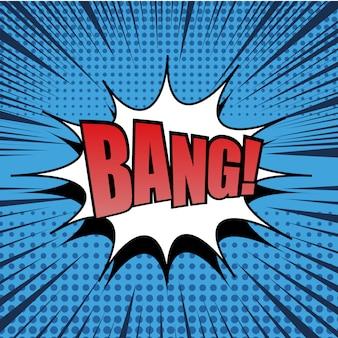 Bang texto em quadrinhos bolha