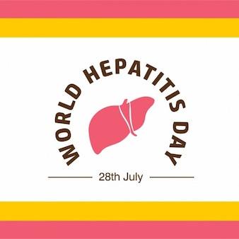 Banne ou um cartaz para o dia mundial da hepatite