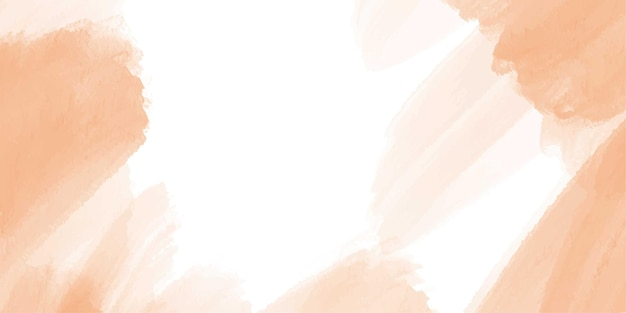 Banner abstrato aquarela laranja