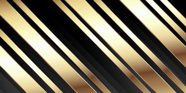 Banner abstrato com desenho de ouro metálico