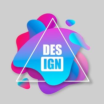 Banner abstrato com triângulo isolado em fundo cinza. modelo pronto para uso em web ou design de impressão.