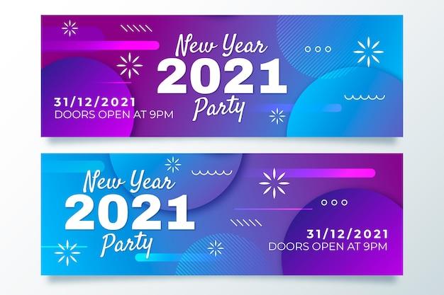 Banner abstrato de ano novo 2021