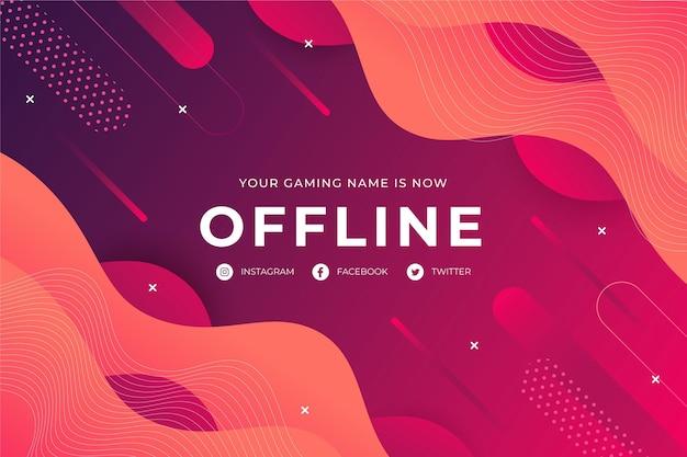 Banner abstrato de contração offline
