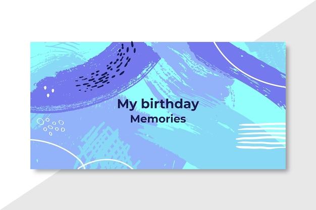 Banner abstrato de lembranças do meu aniversário