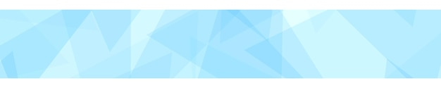 Banner abstrato de triângulos translúcidos em cores azuis claras