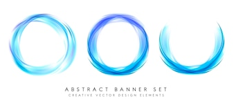 Banner abstrato definido em azul