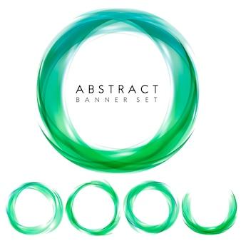 Banner abstrato definido em verde