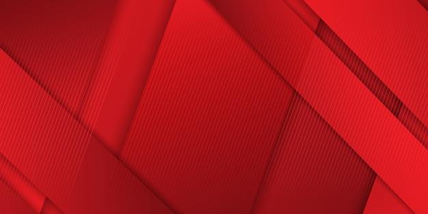 Banner abstrato design em tons de vermelho
