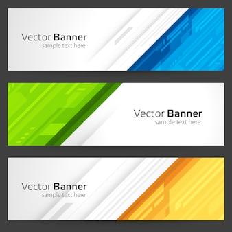 Banner abstrato do modelo de formas geométricas.