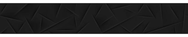 Banner abstrato em cores pretas