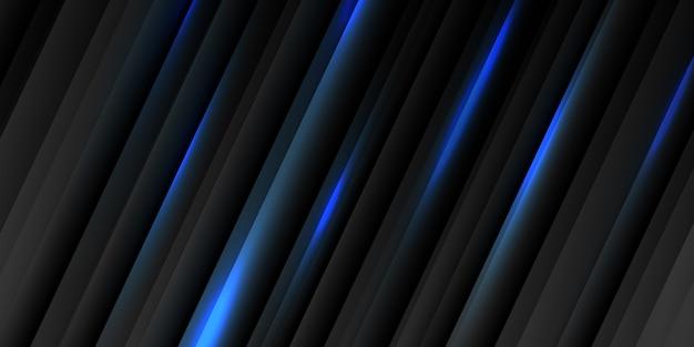Banner abstrato escuro com design moderno