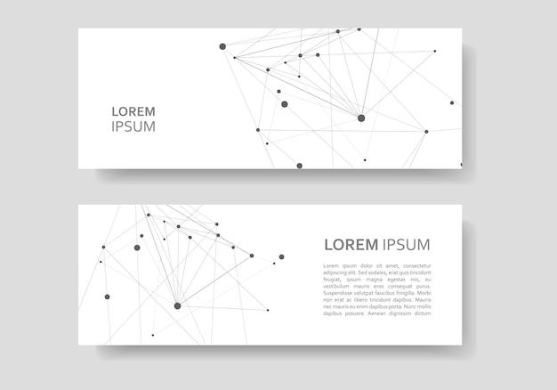 Banner abstrato estilo poligonal. estrutura criativa molecular e de conexão
