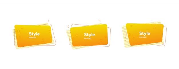 Banner abstrato mínimo na moda