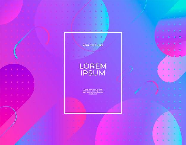 Banner abstrato moderno conjunto blob líquido liso formas cores ultravioletas