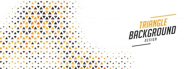 Banner abstrato pequenos triângulos em design de duas cores