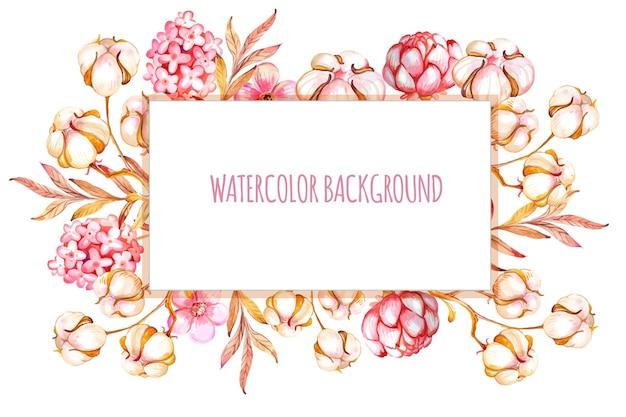 Banner aquarela de algodão