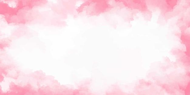 Banner aquarela rosa