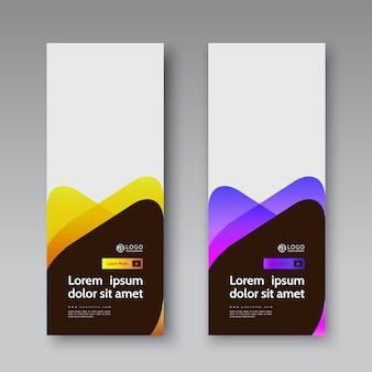 Banner cobre conjunto moderno modelo de vetor abstrato